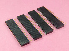 4 of 2.54mm Pitch 15 Pin Female Single Row Straight Header Strip Socket