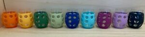 Lifefactory BPA Free 11 oz Glass Wine Tumblers w/ Silicone Sleeve 2 Pack