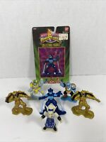 "1993-1995 Bandai Mighty Morphin Power Rangers 7 PVC 3"" Mini Collectible Figures"