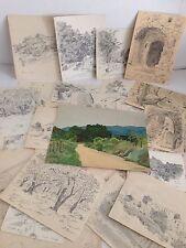 Joseph GIORDAN Félibrige /38 dessins originaux /1 aquarelle /BERRE les ALPES