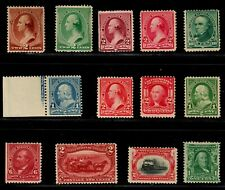 US #210//300 1883-1903 Singles Mostly Mint NG Lot of 12 Stamps (SCV $512)