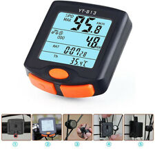 Wireless Digital Cycling Bike Bicycle Computer Speed Speedometer LCD Odometer Y