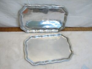 Pr Wilton Armetale Pewter Serving Tray Platter Plate Queen Anne Country French