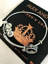 Alex and Ani Women's Queen's Crown Charm Bangle Rafaelian Silver A09eb134rs