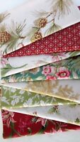 Anna Griffin CHRISTMAS ROSE Christmas Quilt Fabric ~ 8 Fat Quarters Bundle