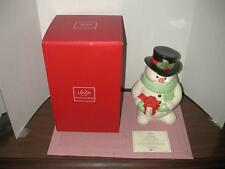 Lenox Snowman Cookie Jar  Limited Edition New in Box w/COA