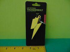 Kikkerland LED Keyring THUNDERBOLT Light & Thunder Sound New in package
