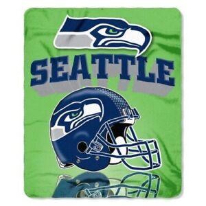 "Seattle Seahawks NFL Northwest ""Mirror"" Fleece Throw"