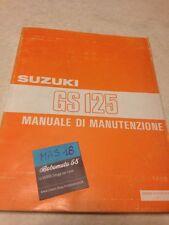 Suzuki GS125 GS 125 manual revisión técnica taller Ed. 83 Italiano