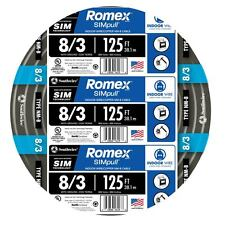 Southwire Romex 8-3 AWG Non Metallic Cable Copper Wire 125' By the Roll 63949202