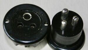 BULGIN 3 PIN CHASSIS MOUNT PLUG/SOCKET