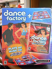 Dance Factory Video Game with Dance Mat Pad For Play Station 2 New