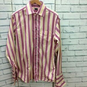 PAUL SMITH Mens Shirt Size 15.5 Iconic Multi Stripe