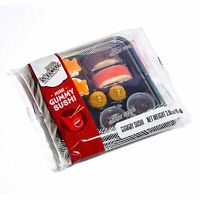 Raindrops Gummy Candy Sushi Mini Bento Box with 5 Kinds of Sushi Rolls 9 Pieces