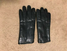 Isotoner black leather gloves women's Large--NEVER WORN!!