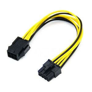 1x 6-pin to 8-pin PCI Express Power Adapter Cable for GPU Video Card PCIE PCI-E