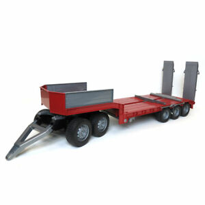 1/16 Bruder Red Tri-axle Low Loader Trailer and Dolly 42823-Kit