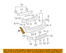 TOYOTA OEM 03-08 Matrix Rear Bumper-Seal Right 5259102060