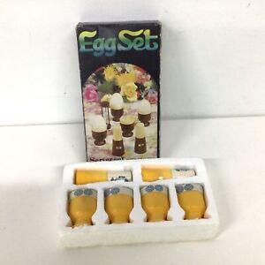 Materia Vintage Egg Set Cups & Salt Pepper Shakers #404