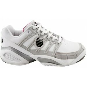 K-Swiss Women's Defier DS Professional Tennis Trainers Multi Surface White Grey