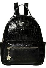 New! Juicy Couture Signature Ever After Backpack Bag Black Faux Patent Leather