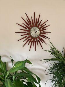 "Newgate ""Pluto"" Starburst Wall Clock, Dia 65cm Sputnik Mid century Atomic"