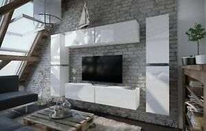Modern Living Entertainment Wall Unit TV Stand BOXING 2 Gloss - 2 Colours