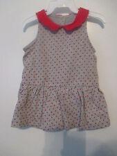 Baby Gap -  Baby Girl  Patriotic  Star Dress 0-3 Months  Gray w/Red Stars - New