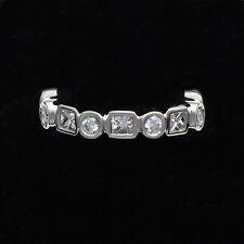 Platinum Princess Cut & Round Cut 1.75 TCW Diamond Eternity Band - Size 6