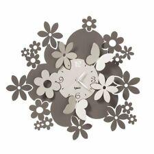 Orologio da Parete con  Fiori e Farfalle Daisy Arti e Mestieri Fango e avorio