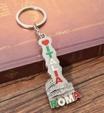Porte-clés, Bijoux de Sac Italie colisée de Rome inscrit Roma Italia.