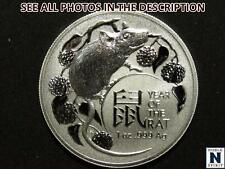 NobleSpirit No Reserve (Nc) 2020 Australian Year of Rat 1oz Silver Reverse Proof
