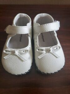 Baby Girl Pediped White Leather Shoes Orig. $42 size  0 - 6 months