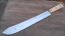 """Huge UNUSED Vintage ONTARIO Chef's 19.75"""" Carbon Steel Butcher Breaking Knife"""