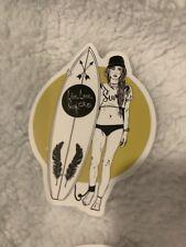 Summer Surfing Sticker Girl