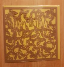 Happy Birthday Butterfly Card - Paperchase Card with P&P included