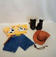 Build A Bear Toy Story Sheriff Woody Costume Outfit Boots Hat Clothes