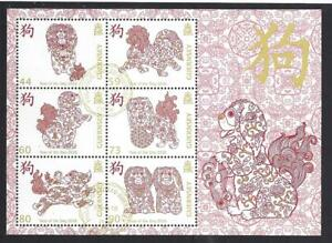 GUERNSEY 2018 YEAR OF THE DOG MINIATURE SHEET FINE USED