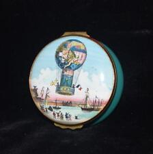 "Halcyon Days / Bilston Battersea ""Balloon Ascent Aero Montgolfiere"" Trinket Box"