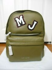 New Auth Marc Jacobs $595 Varsity Pack Large Leather Backpack, Army Green