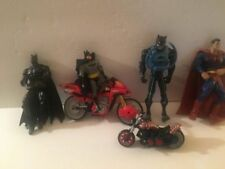 BATMAN SUPERMAN action figure dolls & Motorcycle Spiderman cycle Spidey
