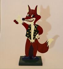 Handmade Painted Wood Triumpfest Fox Signed TP 1995
