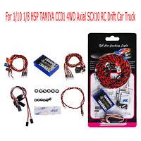 For 1/10 1/8 HSP TAMIYA CC01 4WD Axial SCX10 RC Car 12 LED Flashing Lights Kits