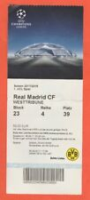 ORIG. ticket Champions League 2017/18 borussia dortmund-real madrid!!!
