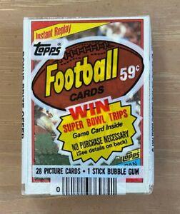 VINTAGE 1984 TOPPS NFL FOOTBALL CELLO PACK - MARINO ELWAY WARNER - DAN MARINO IR