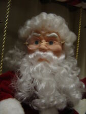 COLLECTIBLE CHRISTMAS ANIMATED SANTA W/2 CHILDREN MOVING/FILLING CART W/GIFTS