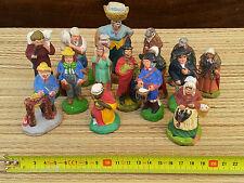 Lote de decoración Navidad, 15 santones Provenza, LLAVE Morel, vintage