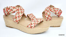 New Jessica Simpson *LEILA* Espadrille Wedge Ankle-Cuff Sandal ~Brown/Red *10/40