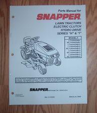 SNAPPER LT180H48HBV2, WLT180H48HBV2, LT180H48IBV2 PARTS MANUAL
