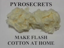 Make Flash Paper and Cotton DIY NITROCELLULOSE at Home Guide Pyrotechnics Magic
